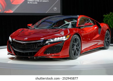 TORONTO-FEBRUARY 12: at the 2015 Canadian International Auto Show Acura NSX with V6 that produces 550 horsepower will have estimated start price at around 150,000 dollars