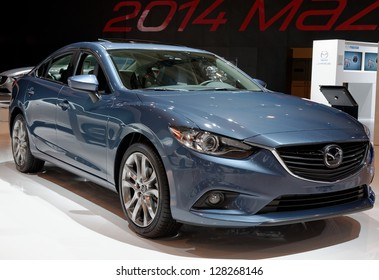TORONTO-FEBRUARY 14: Mazda 6 Diesel at the 2013 Canadian International Auto Show on February 14, 2013 in Toronto