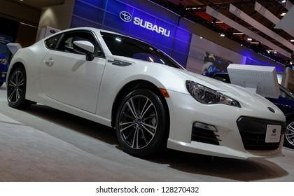 TORONTO-FEBRUARY 14: Subaru BRZ at the 2013 Canadian International Auto Show on February 14, 2013 in Toronto