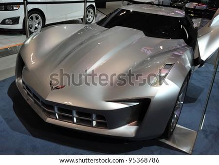 Torontofebruary 16 Chevrolet Corvette Stingray Concept Stock Photo