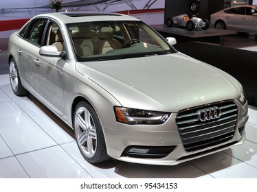 TORONTO-FEBRUARY 16: The new Audi A4 Sedan on display at the 2012 Canadian International Auto Show on February 16, 2012 in Toronto, Canada.