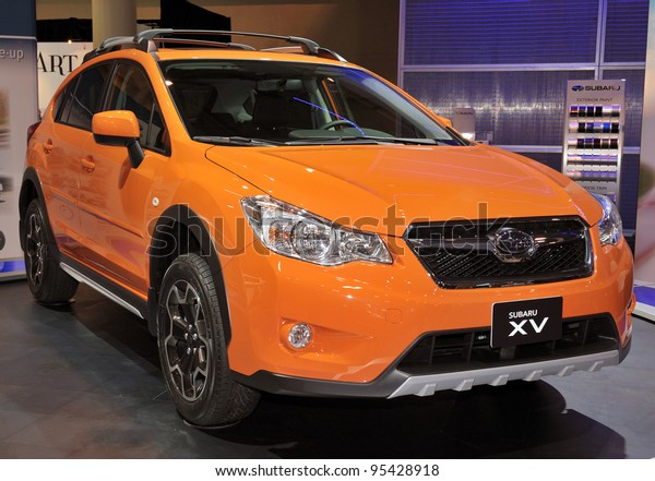 New Subaru Xv >> Torontofebruary 16 New Subaru Xv Shown Royalty Free Stock