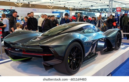 TORONTO-FEBRUARY 25: at the 2017 Canadian International Auto Show the Aston Martin-Red Bull concept hypercar AM-RB 001 made its first appearance in North America at the Canadian AutoShow.