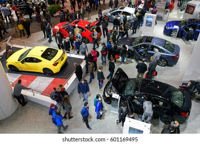 TORONTO-FEBRUARY 25: at the 2017 Canadian International Auto Show with more than 1,000 cars, trucks, SUVs, concept cars and alternative energy vehicles, this is the largest automotive expo in Canada