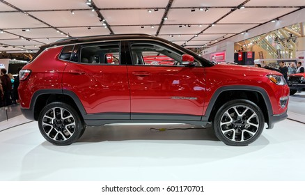 TORONTO-FEBRUARY 25: at the 2017 Canadian International Auto Show,as the new C-Segment SUV in Jeep's lineup the new Jeep Compass take a spot in between the Renegade and Cherokee.