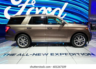 TORONTO-FEBRUARY 25: at the 2017 Canadian International AutoShow all new Ford Expedition is available in 5 spacious models with 3.5L EcoBoost® V6 engine
