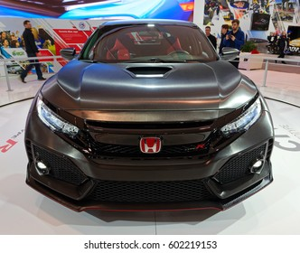 TORONTO-FEBRUARY 25: at the 2017 Canadian International AutoShow, Honda Civic Type R,based on the current generation Civic hatchback will likely end up on the road without many changes