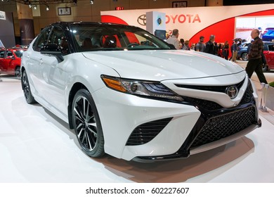 TORONTO-FEBRUARY 25: at the 2017 Canadian International AutoShow, tthe all-new 2018 Toyota Camry made Canadian debuts featuring aggressive exterior character lines and a low center of gravity