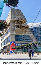 Toronto,Ontario, June 12, 2018: Rogers center in Toronto, Canada. The Toronto Blue Jays are a Canadian professional baseball team based in Toronto, where they have their stadium.