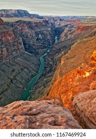 Toroweap overlook of Grand Canyon National Park, North Ridge, remote place. Sunrise