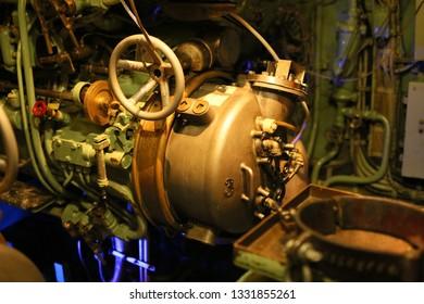 Torpedo tube on old submarine