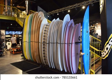 Torquay (Australia), January 2018 - Surfboards for sale