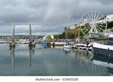 Torquay, Devon with Millenium Bridge and Ferris Wheel