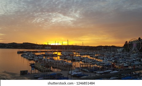 Torquay Harbour at sunset