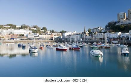 Torquay Inner Harbour, Devon, England