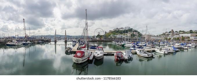 Torquay, UK - 05 31 2017: Marina in Torquay, Devon
