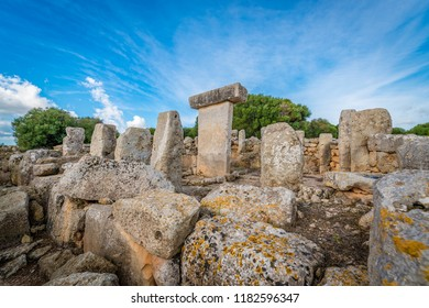 Torralba den Salord, prehistoric village from the Talayotic period located on the island of Minorca between the municipalities of Mahón and Alayor in Balearic Islands, Spain.