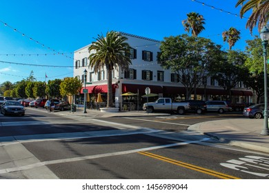 TORRANCE, CALIFORNIA/U.S. - JULY 20, 2019: Historic building that is home to the Tortilla Cantina restaurant on Sartori Avenue.