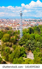 Torre Branca Tower is an iron panoramic tower located in Parco Sempione the main city park of Milan in Italy