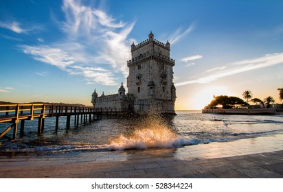 Torre de Belem/Belem Tower, Lisboa, Portugal - one of the most famous attractions of Portugal