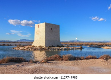 Torre de Tamarit. Old tower in Santa Pola, Spain.