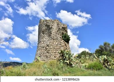 Torre di Joppolo watch tower in Calabria near Nicotera village