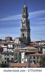 Torre dos Clerigos - Clerigos Tower. Porto in Portugal.
