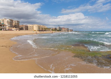 Torre La Mata Spain beach and clear blue sea on the Costa Blanca north east of Torrevieja