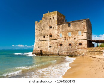 Torre Mozza 16th century Tuscan coastal tower in Piombino