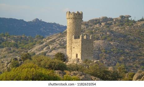 Torrelodones watchtower or tower Lodones in Madrid.
