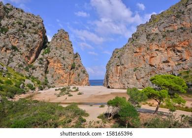 Torrent de Pareis Sa Calobra Mallorca, Spain
