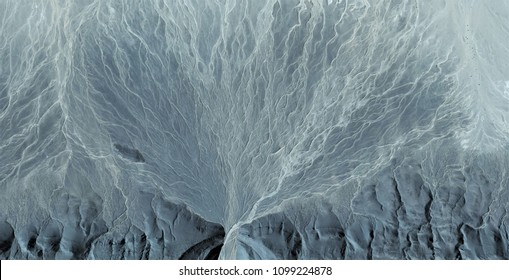 torrents of life, abstract photography of the deserts of Africa from the air. aerial view of desert landscapes, Genre: Abstract Naturalism, from the abstract to the figurative, contemporary photo art