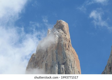 Torres del Paine Central tower mountain peak at Chilean Patagonia