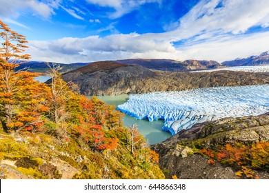 Torres Del Paine National Park, Chile. Grey glacier.