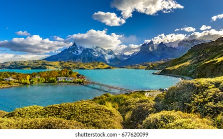 Torres del Paine National Park, Lago,Grey, Patagonia, Chile
