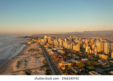 Torres - RS. Panoramic aerial view of the city, Torres beach. Rio Grande do Sul – Brazil