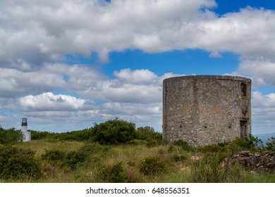 Torres Vedras Portugal. 13 April 2017.Old abandoned wind mill on Torres Vedras.Torres Vedras, Portugal. photography by Ricardo Rocha.