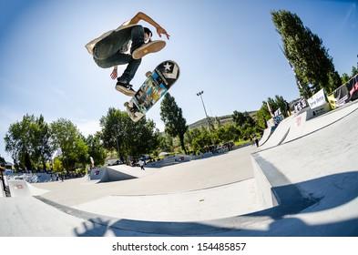 TORRES VEDRAS, PORTUGAL - SEPTEMBER 15: Bruno Senra at 2nd Stage on DC Skate Challenge by Fuel TV on september 15, 2013 in Torres Vedras, Portugal.