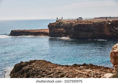 Torrevieja, Spain, 10/04/2015; cliff in Torrevieja