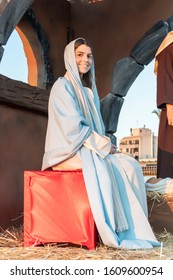 Torrevieja, Spain - January 5 2020: Traditional procession, reconstruction of visit of the Magi to the infant Jesus - procession of three kings