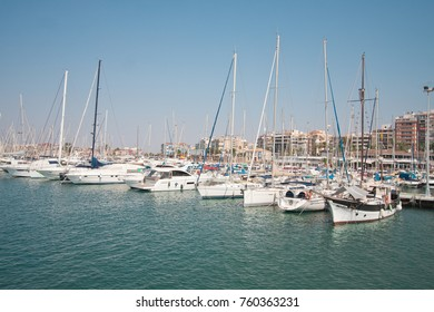 Torrevieja, Spain, July 24, 2015: Yacht harbor view