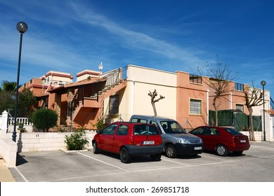 TORREVIEJA, SPAIN - MAY 7, 2012: Torrevieja is a Mediterranean city, with a privileged location and the unique climatic conditions. Is as the ecological clean region of Europe. Residential complex.