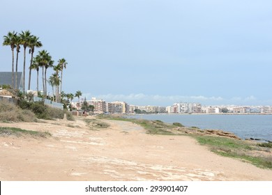 TORREVIEJA, SPAIN - OCTOBER 11, 2014: Torrevieja is a Mediterranean city, with a privileged location and the unique climatic conditions. Is  as the ecological clean region of Europe. Cityscape.