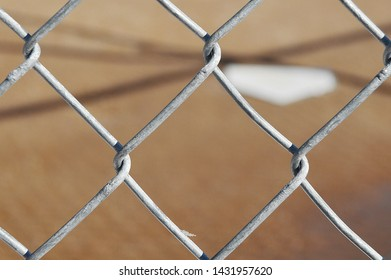 Torrington Wyoming, United States 4/7/19 Homeplate - Taken from the backstop, home plate is blurred because wanted the backstop to be in focus.
