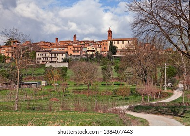 Torrita di Siena, Tuscany, Italy: landscape of the countryside and the ancient picturesque hill town