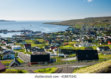 Torshavn capital of the faroe islands during a sunny day