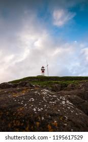 Torshavn / Faroe Islands - June 16 2017: Lighthouse in Torshavn the capital of Faroe Islands.