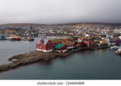 Torshavn harbor on Faroe Islands
