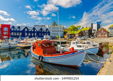 Torshavn marina - Torshavn the capital of The Faroe Islands, Denmark.