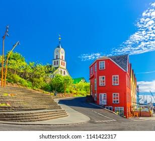 Torshawn city - the capital of The Faroe Islands, Denmark.